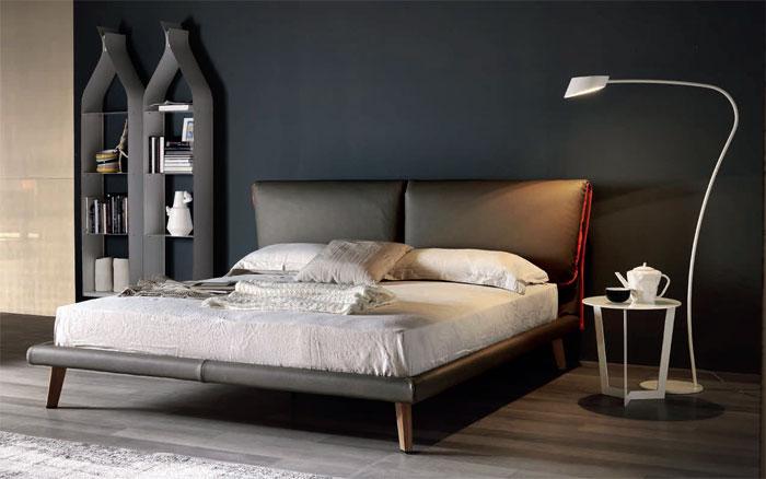 мебель для спальни кровать с мягким изголовьем модель Adam