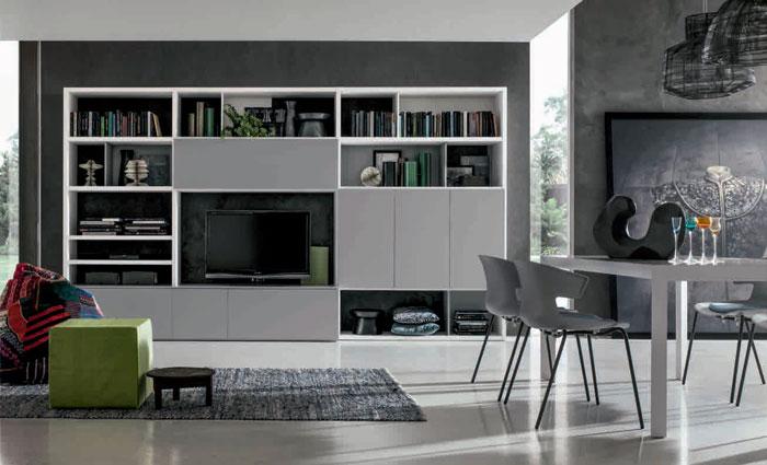 Стенка в гостиную, коллекция INTEGRA, композиция GS007 ...