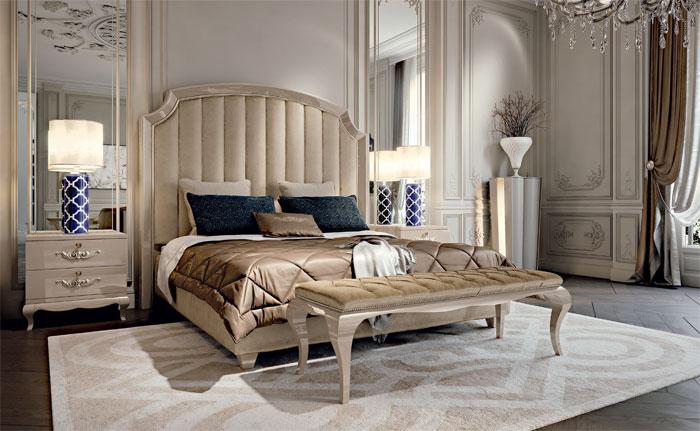 коллекция NUOVO ART DECO, композиция 03, кровать, банкетка, CAVIO